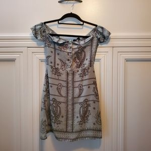 Missguided tunic blue Paisley dress